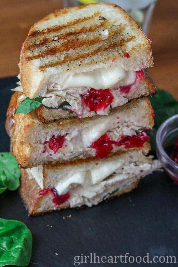 Turkey Cranberry Sandwich from Girl Heart Food -- Cooking Chat roundup