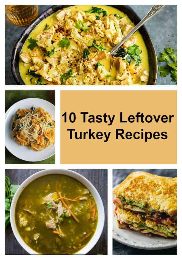 10 Tasty Leftover Turkey Recipes roundup, perfect for the day after Thanksgiving or Christmas.