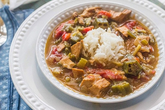 Turkey Sausage Gumbo from Syrup & Biscuits