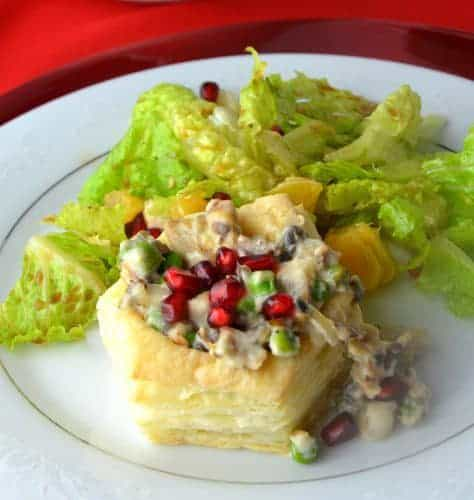 Turkey Vol Au Vent Shells is another creative use for leftover turkey, from Cooking Chat roundup.