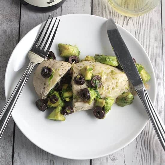 Easy Olive and Avocado Chicken