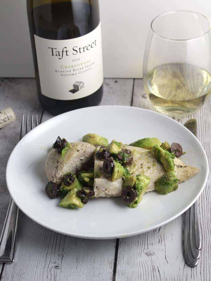 Taft Street Chardonnay pairs nicely with avocado chicken. #winepairing #Chardonnay