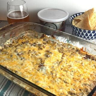 Easy Mexican Dip in baking tray