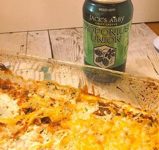 Easy Mexican Dip Paired with a Hopponius Union beer
