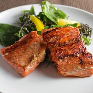 Salmon with Asian Greens