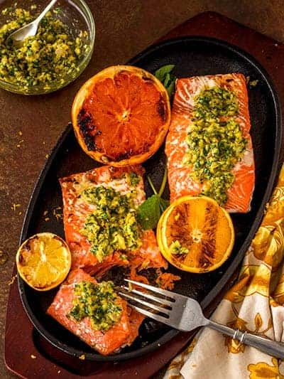 Gremolata with Grilled Salmon