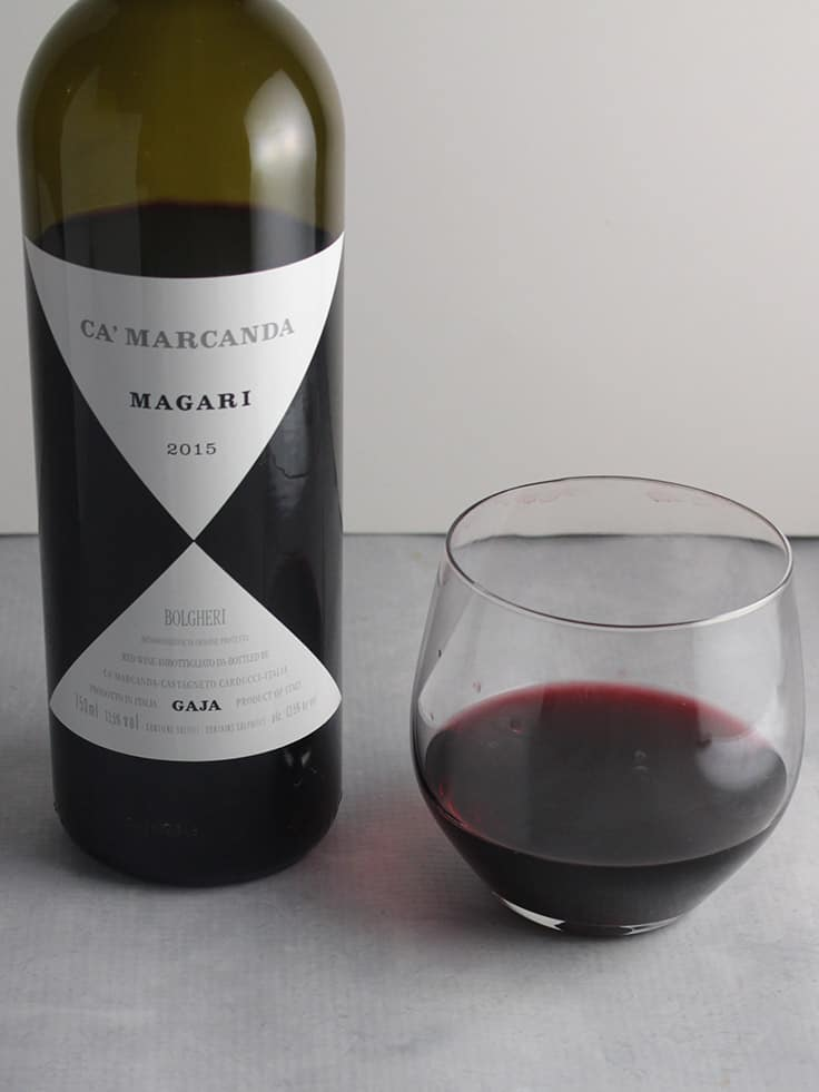 Ca' Marcanda Magari, a blend of Cabernet Franc and Cabernet Sauvignon, is an excellent Italian wine. #winepairing #wine #sponsored