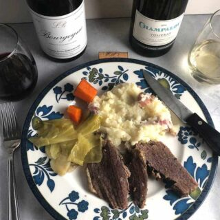 wine with corned beef and cabbage.