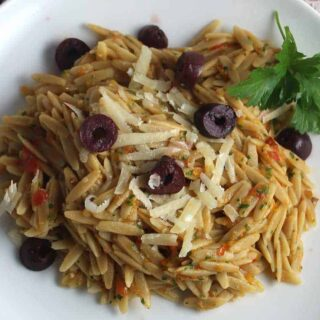 Orzo with Provencal Pesto #SundaySupper