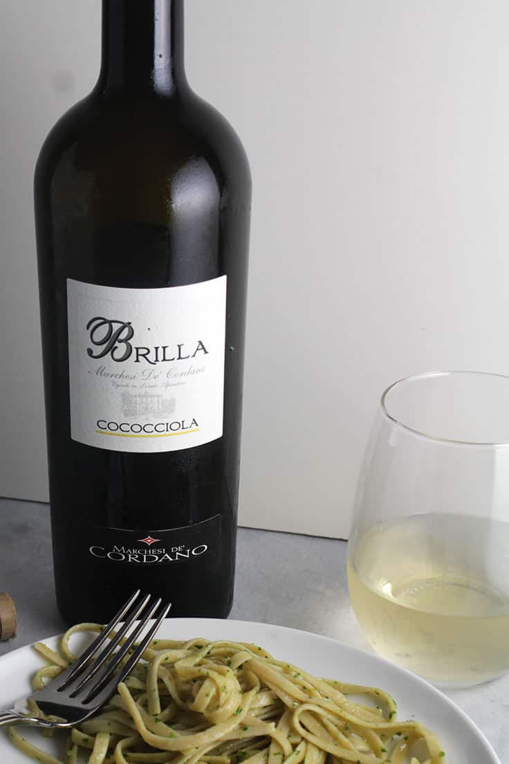 Brilla Cococciola from Marchesi De Cordano is a very good white wine from Abruzzo. #whitewine #ItalianWine #Abruzzo