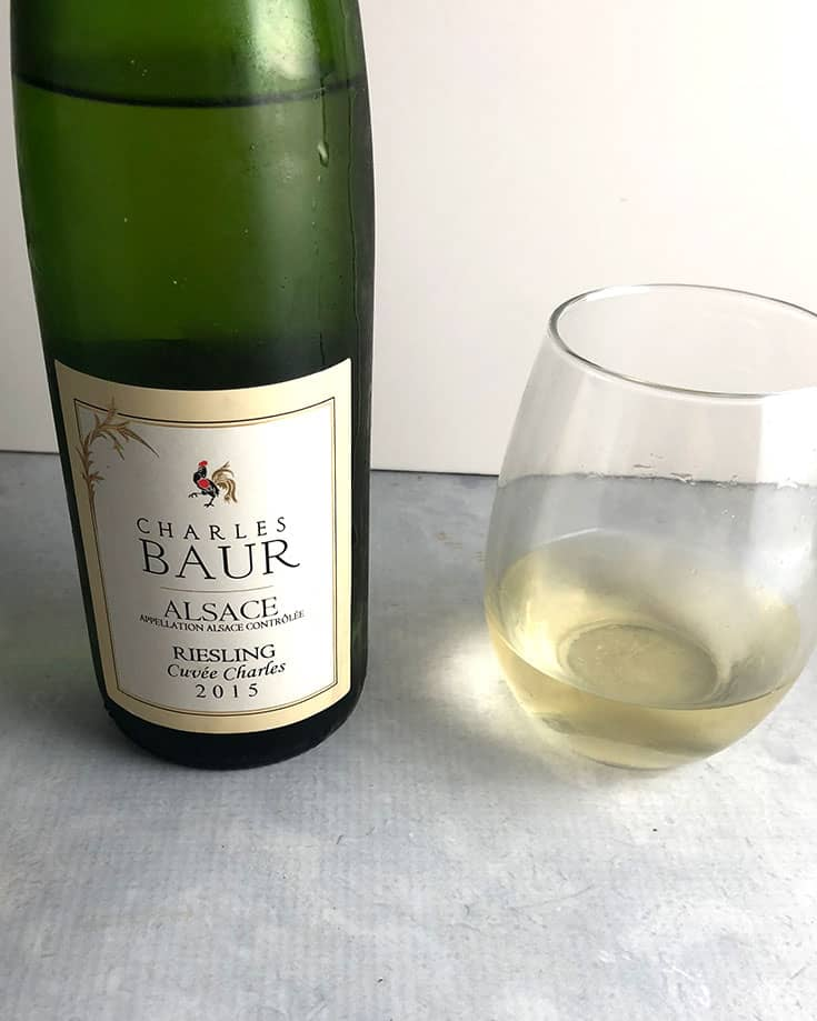Charles Baur Riesling from Alsace is a very high quality white wine. #Riesling #wine #sponsored