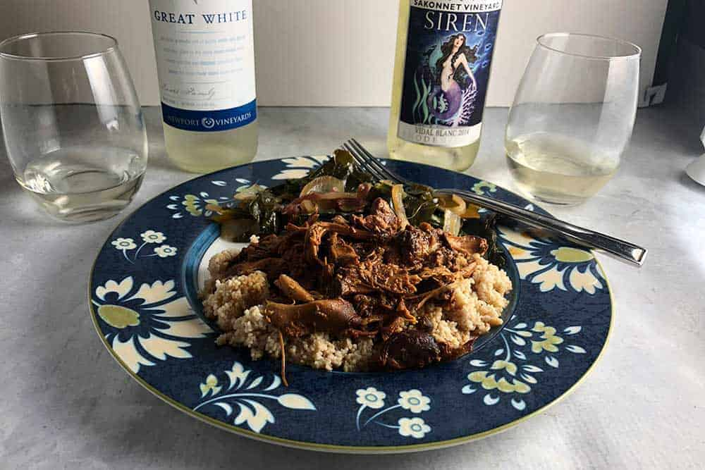 slow cooker chicken with wines from Rhode Island.