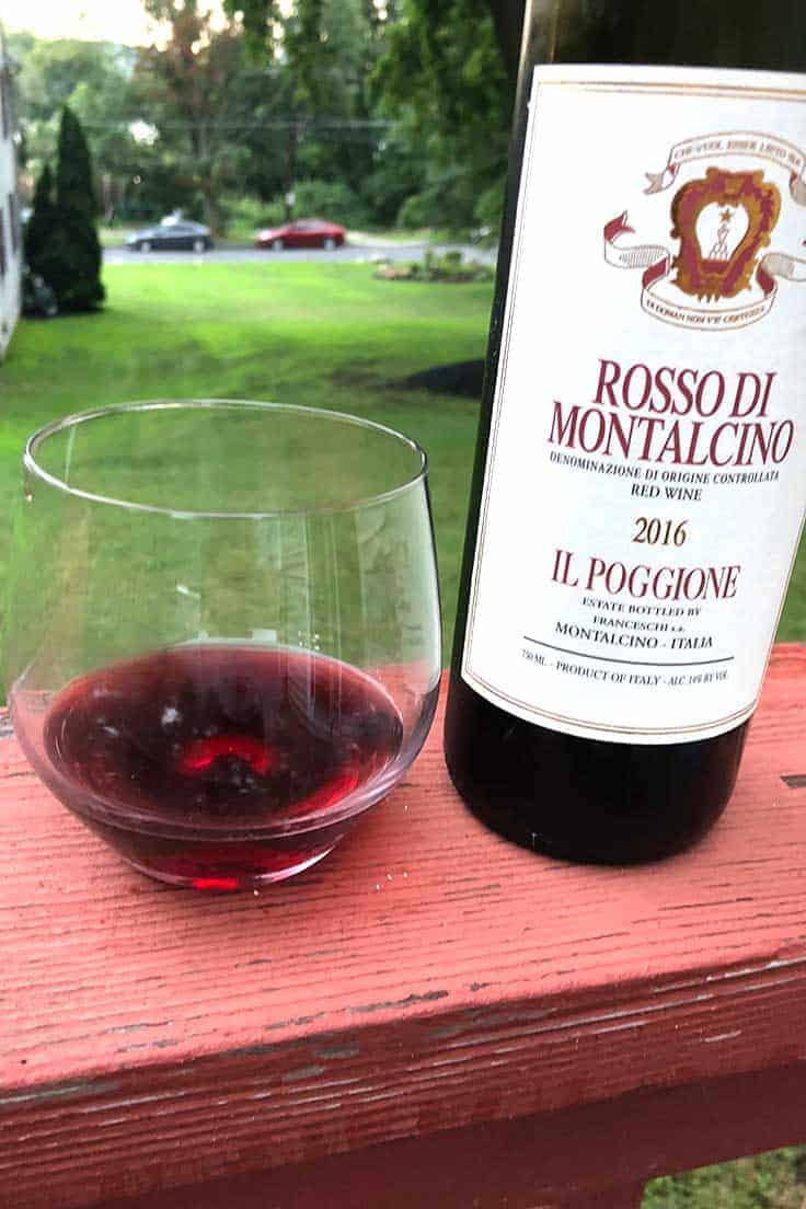 Il Poggione Rosso di Montalcino is an excellent, approachable red wine made from Sangiovese grapes. #wine #ItalianWine #sponsored