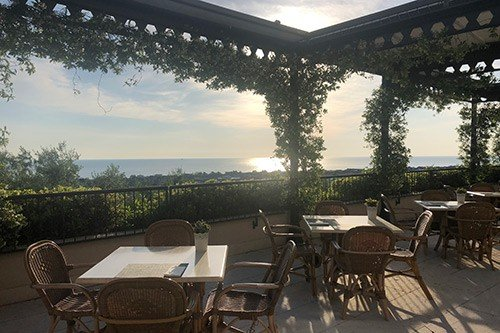view from a hotel patio in Abruzzo