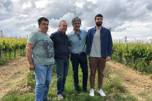 owner and winemaking team at Illuminati winery.