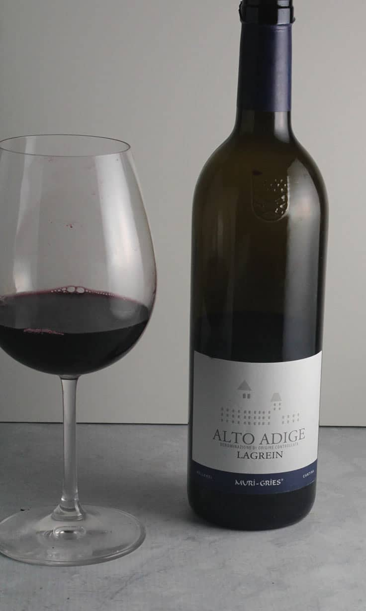 Muri-Gries Alto Adige Lagrein is a bold, flavorful red wine from Northern Italy. #wine #Lagrein #AltoAdige