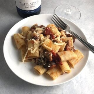 Leftover Steak Pasta Recipe with Lagrein Wine Pairing