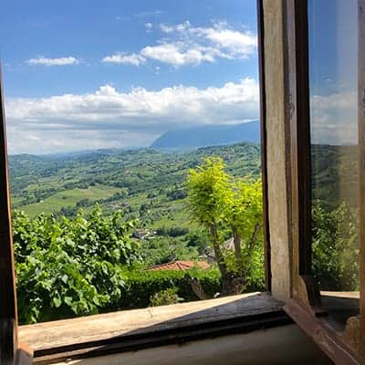 view from the window at Castello di Semivicoli