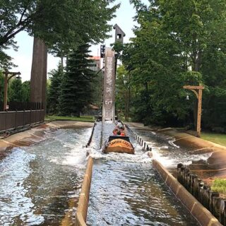 flume water ride at Canobie Lake Park.