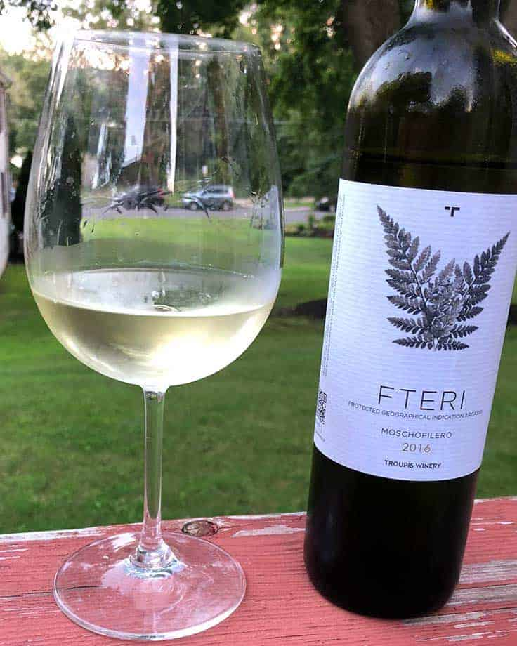 Fteri Moschofilero from Troupis Winery is a very good Greek white wine. #GreekWine #whitewine
