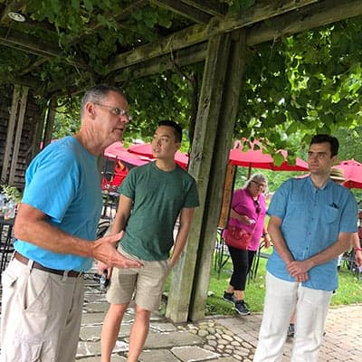 tour at Westport Rivers Vineyard