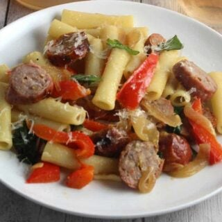 Ziti with Sausage, Peppers and Onions