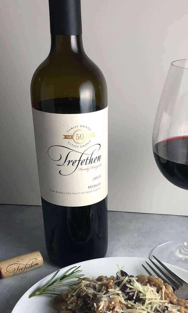The 2015 Trefethen Merlot is an excellent, full-bodied Napa wine. #MerlotMe #wine