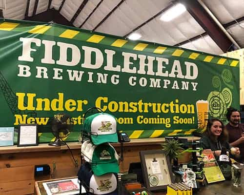 Fiddlehead Brewing tasting room