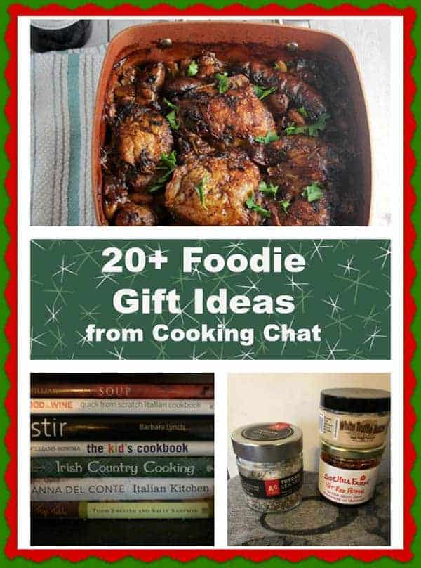 Collection of 20+ gift ideas for the foodies on your holiday shopping list -- cookbooks, kitchen tools and more! #foodies #ChristmasGifts