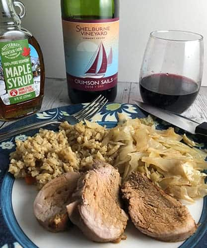 full sails wine with maple pork tenderloin