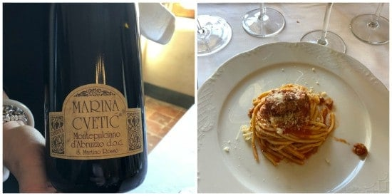Masciarelli castle lunch pairing.