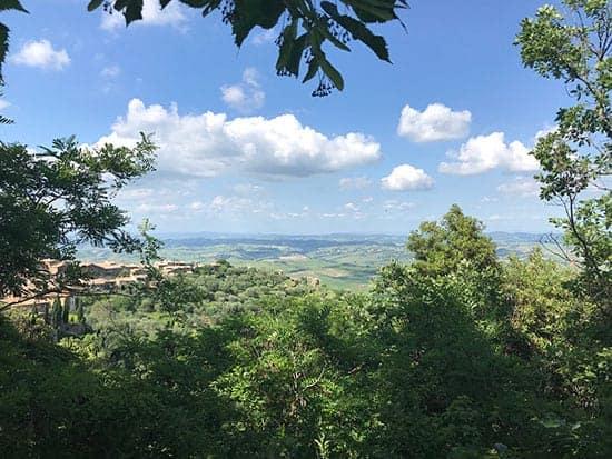 view of Avignonesi winery in Tuscany.