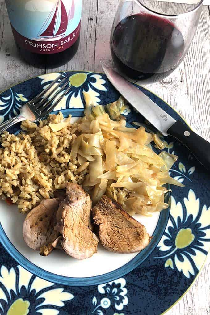 Maple Pork Tenderloin is a delicious combination of savory and sweet. Excellent with a red wine from Vermont! #porktenderloin #winepairing #pork #maplesyrup