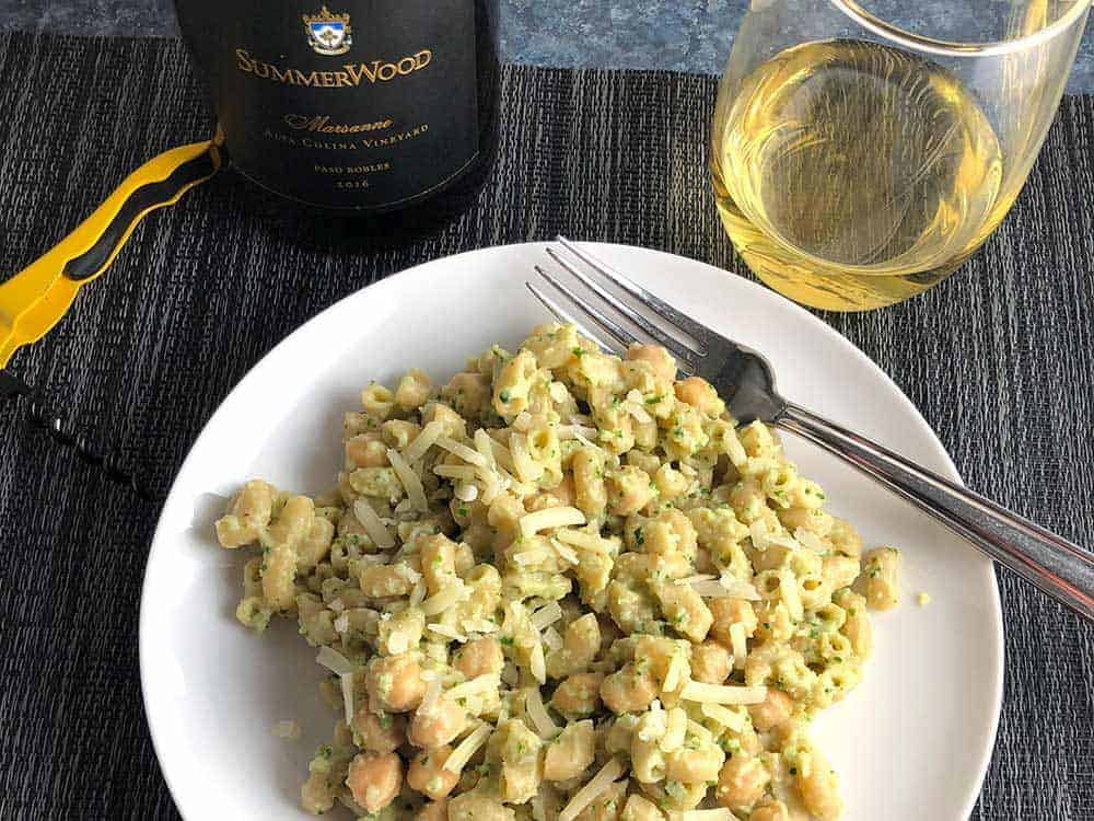 Summerwood Marsanne from Paso Robles is an excellent pairing for Creamy Cauliflower Pasta.