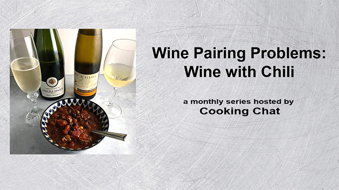 banner for wine with chili article.