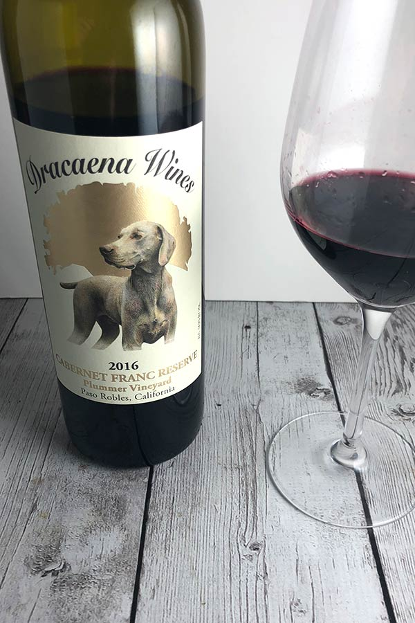 Dracaena Reserve Cabernet Franc is an excellent wine from Paso Robles, California.