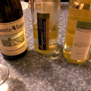 lineup up of Michigan wines.