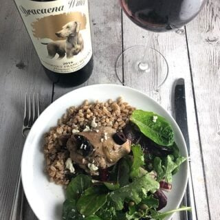 Portobello Mushroom Chicken Braise with Dracaena Reserve Cabernet Franc #winePW