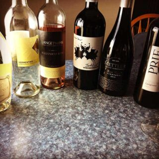 lineup of Lodi wines.