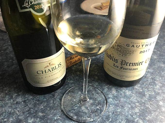 two Chablish wines with a glass of Chablis.
