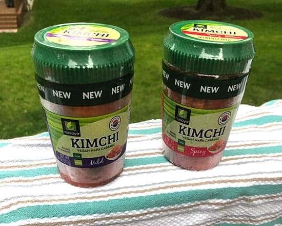 jars of Nasoya kimchi