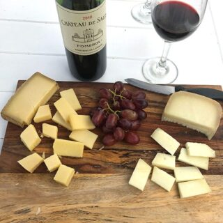Chateau de Sales Pomerol with cheese plate