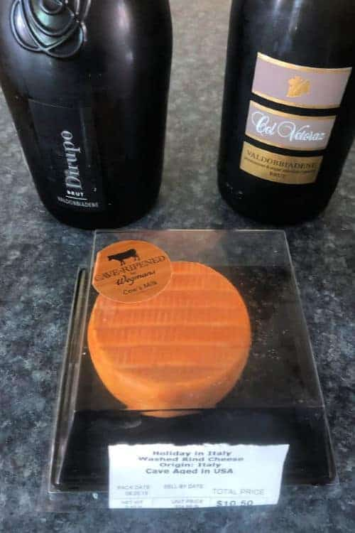 Prosecco Superiore with Holiday in Italy cheese.