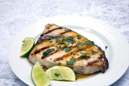 grilled mojito swordfish