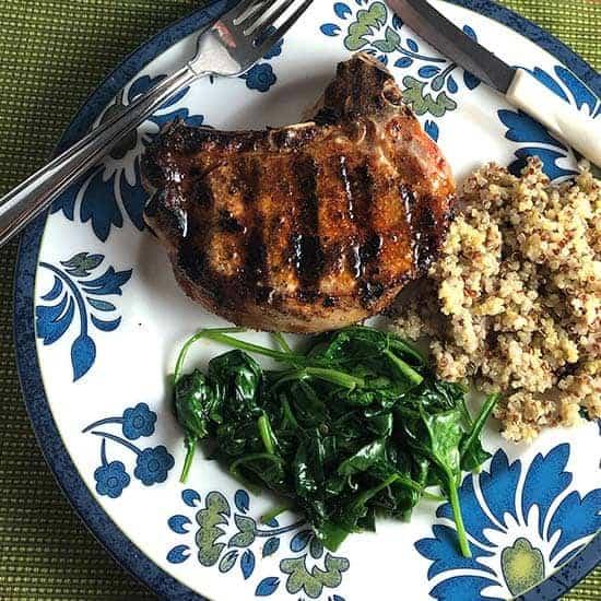 Grilled Paprika Pork Chops
