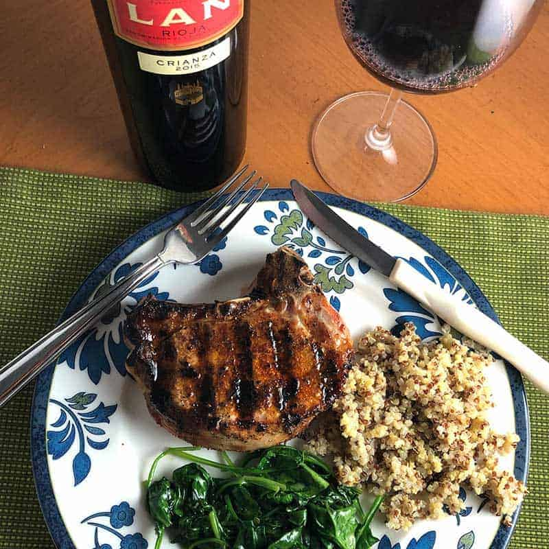 Lan Rioja with Paprika Pork Chops