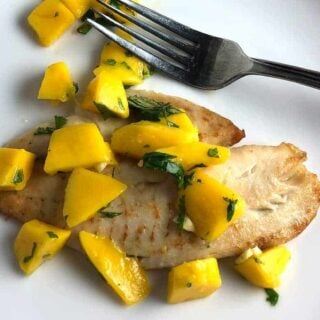 Tilapia with Mango Salsa and a French Rosé