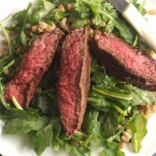 Arugula Steak Salad with Farro