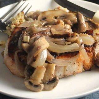 pork chops with garlic mushroom sauce