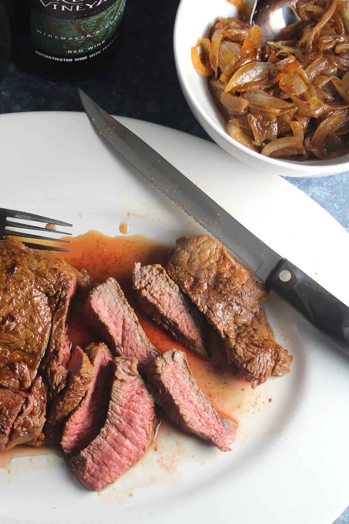Oven Roasted Sirloin Steak With Onion Sauce And Texas Wine Winepw Cooking Chat